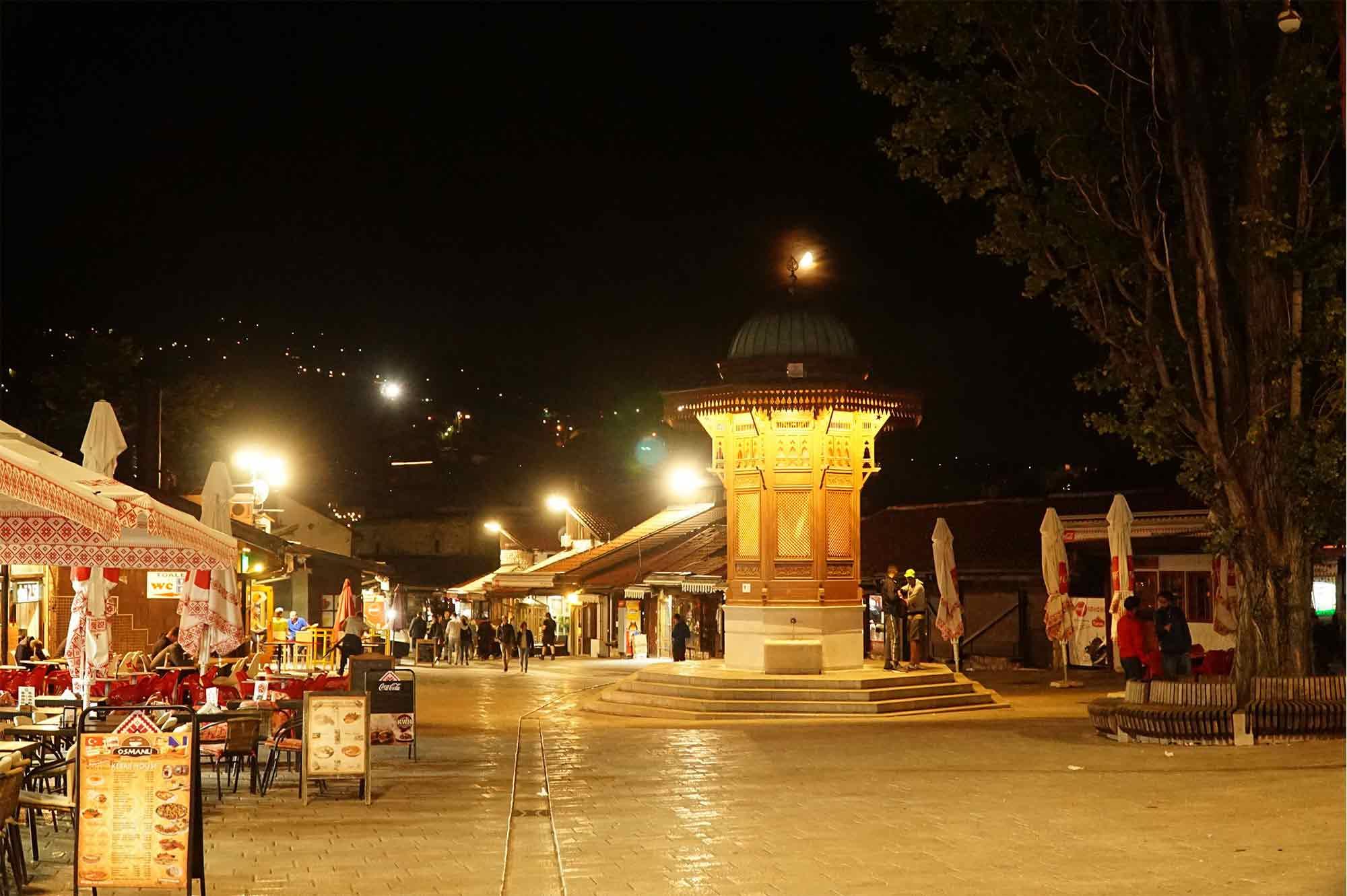 tržiště v Sarajevu, Bosna a Hercegovina