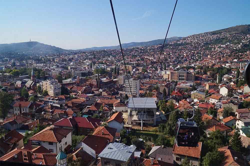 Lanovka Trebevićka žičara v Sarajevu