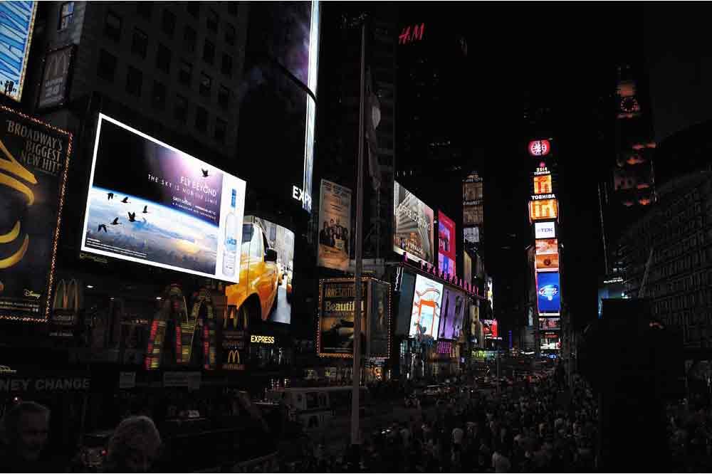USA, New York, Time Square, Manhattan, večer, night